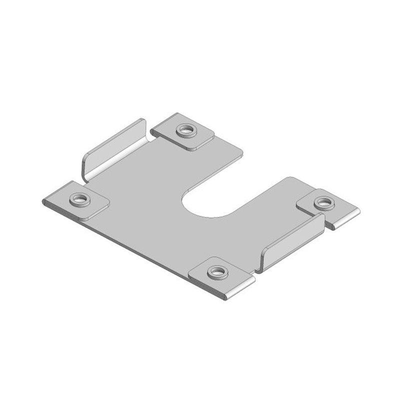 Įžeminimo plokštelė tarp saulės modulio ir aliuminio profilio Image